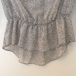 Zara Tops - Zara Basics Polka Dot Sheer Blouse